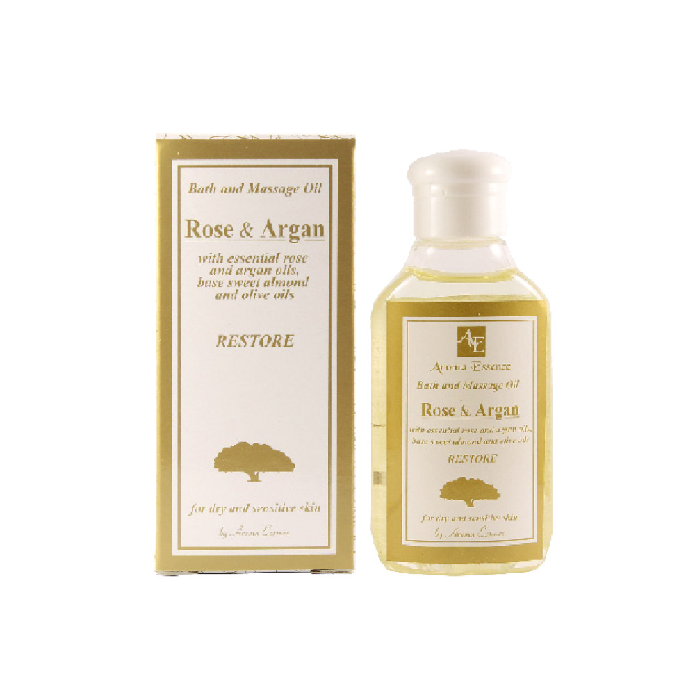 "Restoring Bath and Massage Oil ""ROSE & ARGAN""– with essential rose and argan oils"