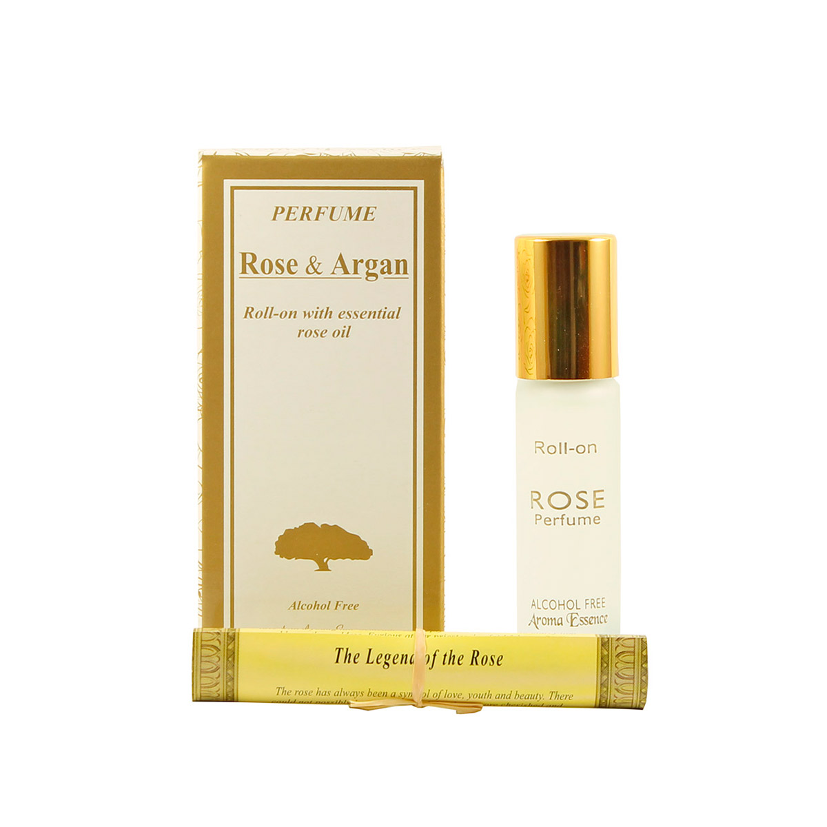 "Alcohol-free perfume roll-on ""ROSE & ARGAN"" - 8 ml."